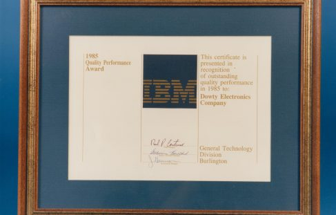 Dowty Electronics - IBM Awards