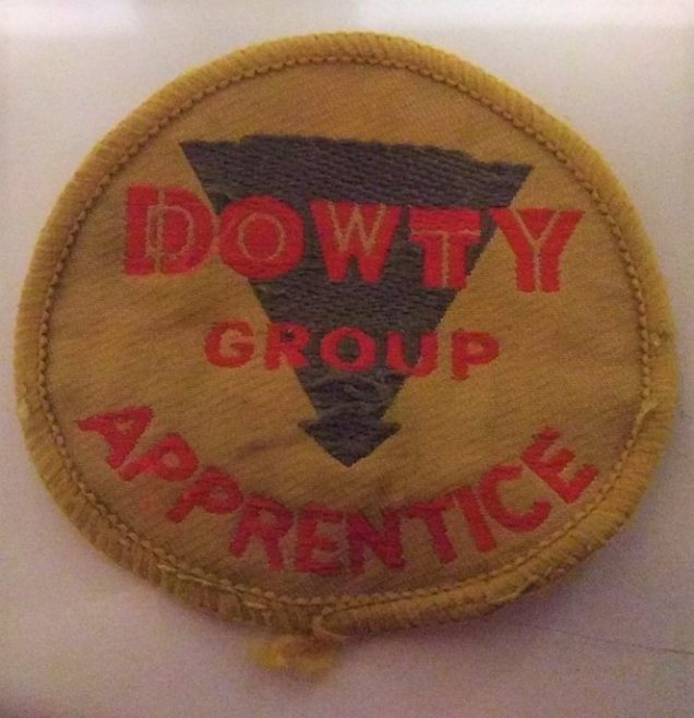Apprentice Badge that was worn on a Green Boilersuit Overall | Jon Hughes