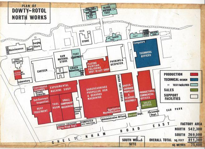 Dowty Rotol - North Works site layout | John Herring