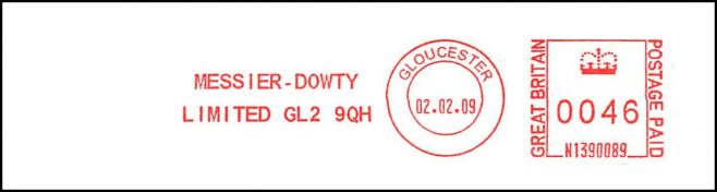 Messier-Dowty Post Date Stamp