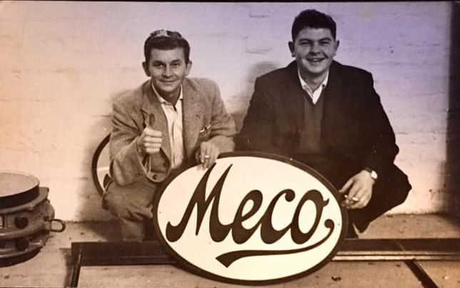 Stuart McBride & Geoff Brown visit Meco after new main conveyor installations at Woolley Colliery in the summer of 1960 | Geoff Brown