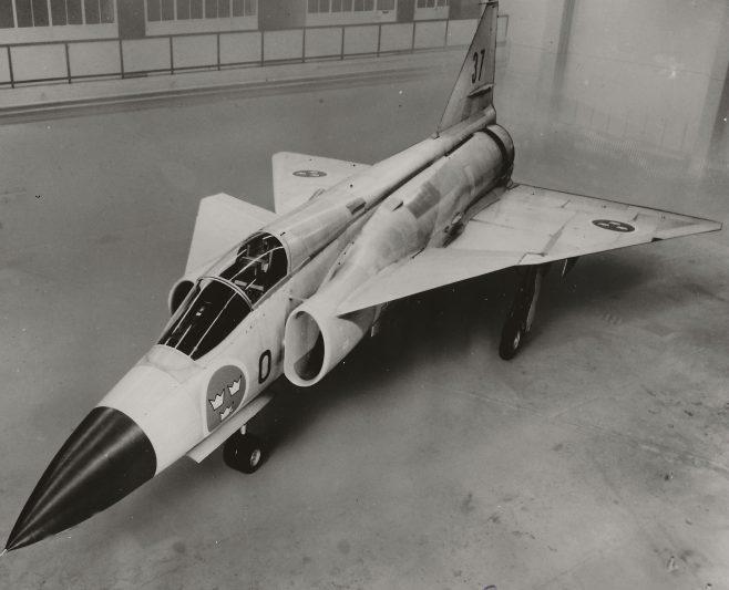SAAB 37 VIGGEN UDF-37-0-352 Saabfoto: Bjorn Petterson 1 APR 1965 | Gary Sutton