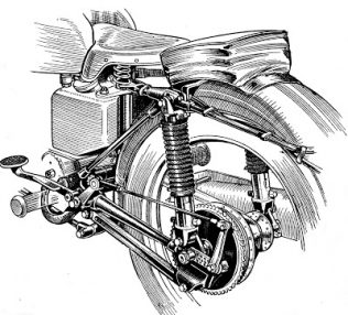 Velocette Oleomatic Suspension - Mk.8 rear suspension