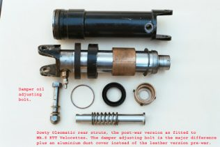 Post war Dowty Oleomatic strut for Mk.8 KTT.1