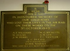 Worcester Meco Works - WW2 Memorial