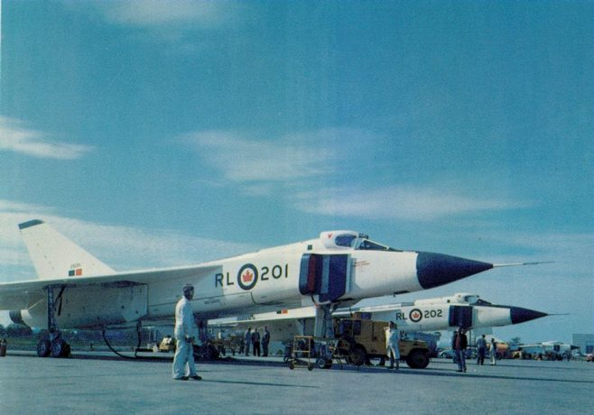 Dowty Equipment of Canada, Ltd., Ajax, Ontario. carried out the design and manufacture of the main undercarriage for the Avro CF-105 Arrow supersonic fighter. c.1957