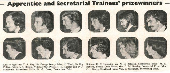 Dowty Apprentice Prizegiving - Main Winners 1976 | John Herring