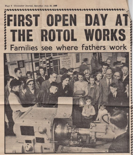 Glos Journal News Clipping July 1957 | Original photo in the Dowty archive at the Gloucestershire Heritage Hub