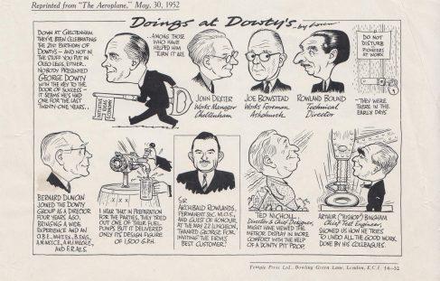 """""""Doings at Dowty's"""" - Cartoon"""