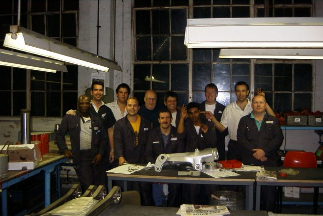 Dowty Landing Systems plating shop late 1990's - Nightshift.   Anthony Ford