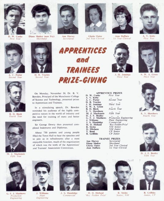 Dowty Apprentice Prizegiving  | John Herring