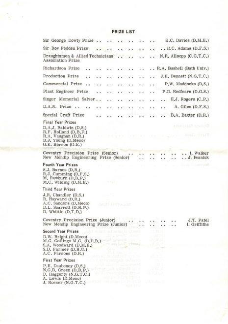Dowty Group Annual Apprentices Prizegiving - Nov 1970 | John Redfern