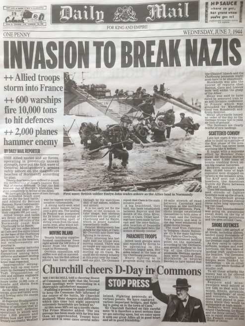 Emlyn John hits the beach on D-Day | J W Redfern
