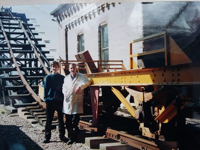 Mike Hanman and Mike Barrow at the Wagon Test Facility Ashchurch  | Mike Hanman