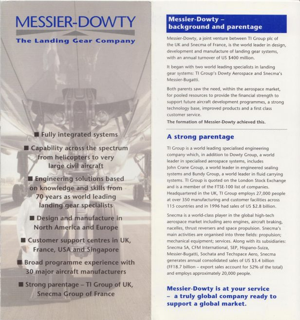 Messier Dowty - Publication | Original photo in the Dowty archive at the Gloucestershire Heritage Hub