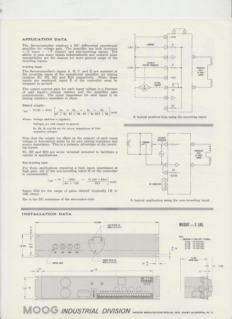 Moog - D-C Servocontroller Model 82-135 | Original photo in the Dowty archive at the Gloucestershire Heritage Hub