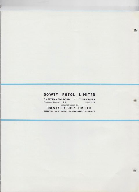Dowty Rotol -  Air Turbine Driven Accessory Gearbox Data Sheet 2027 | Original photo in the Dowty archive at the Gloucestershire Heritage Hub