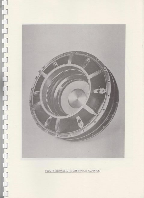 Dowty Rotol - Variable pitch Fan Propulsion for quiet STOL   Original photo in the Dowty archive at the Gloucestershire Heritage Hub