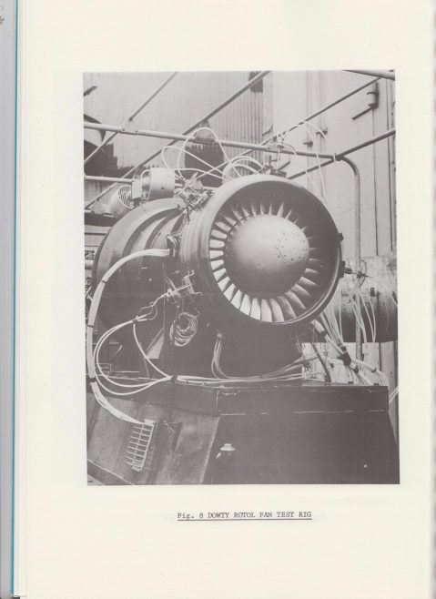 Dowty Rotol - Variable pitch Fan Propulsion for quiet STOL | Original photo in the Dowty archive at the Gloucestershire Heritage Hub