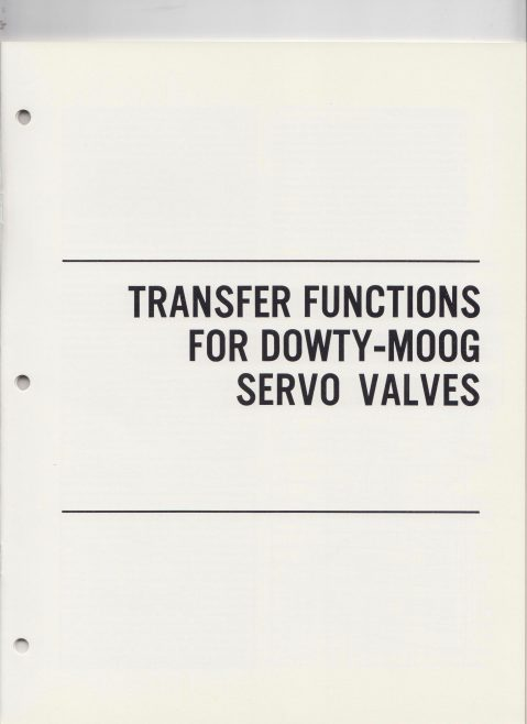 Dowty Electrics - Transfer Functions for Dowty-Moog Servo Valves | Original photo in the Dowty archive at the Gloucestershire Heritage Hub