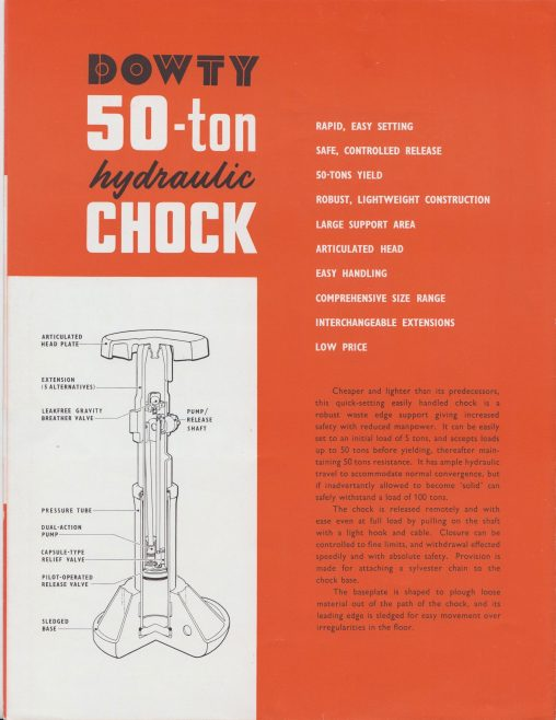 50-Ton Hydraulic Chock   Original photo in the Dowty archive at the Gloucestershire Heritage Hub