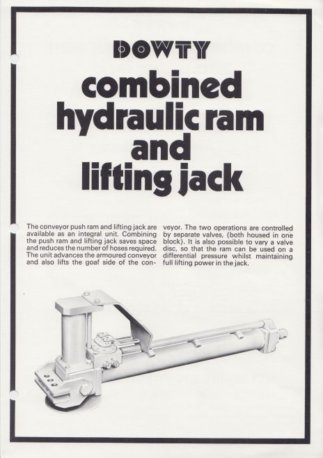 Combined Hydraulic Ram and Lifting Jack | Original photo in the Dowty archive at the Gloucestershire Heritage Hub