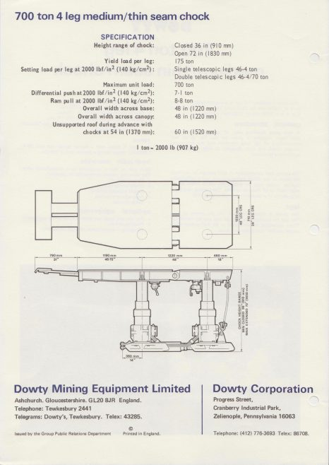 4-Leg 700 Ton Medium/Thin Seam Chock | Original photo in the Dowty archive at the Gloucestershire Heritage Hub