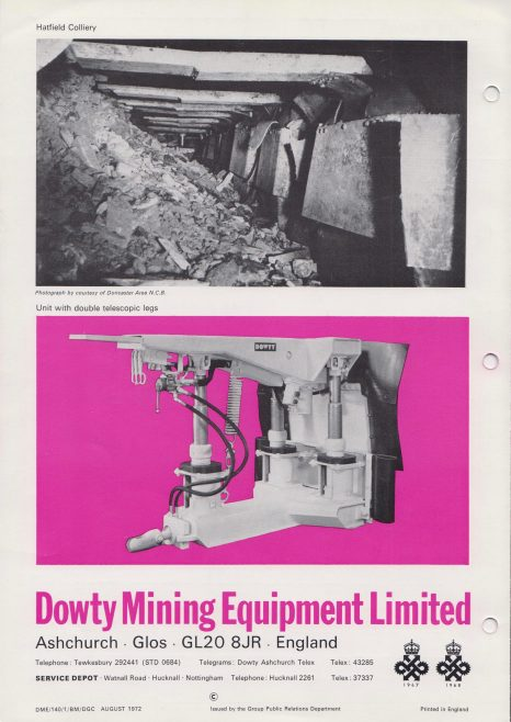 3-Leg 75 Ton Packhole Support   Original photo in the Dowty archive at the Gloucestershire Heritage Hub