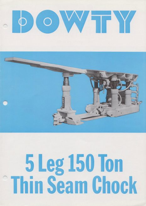5-Leg 150 Ton Thin Seam Chock | Original photo in the Dowty archive at the Gloucestershire Heritage Hub