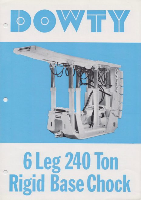 6-Leg 240 Ton Rigid Base Chock | Original photo in the Dowty archive at the Gloucestershire Heritage Hub