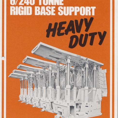6-Leg 240 Ton Rigid Base Heavy Duty Supports | Original photo in the Dowty archive at the Gloucestershire Heritage Hub