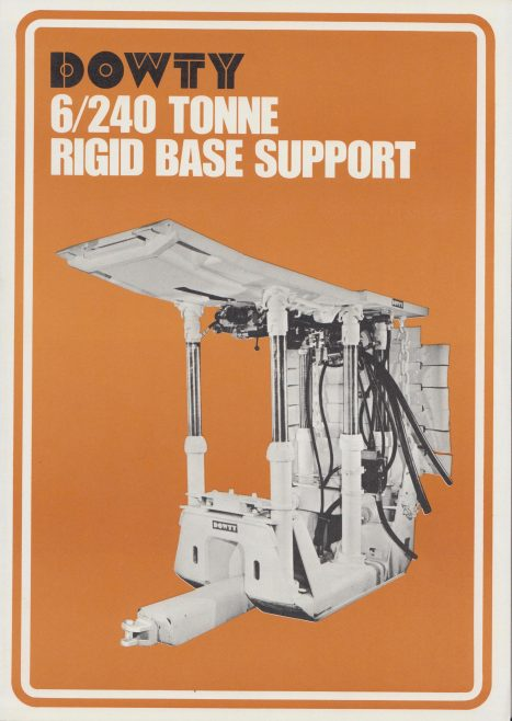 6-Leg 240 Ton Rigid Base Supports | Original photo in the Dowty archive at the Gloucestershire Heritage Hub