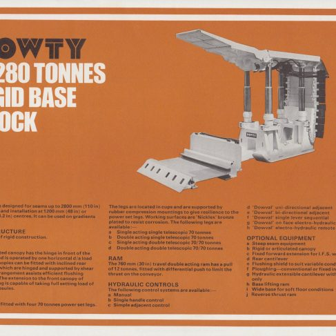 4-Leg 280 Tonne Rigid Base Chock | Original photo in the Dowty archive at the Gloucestershire Heritage Hub