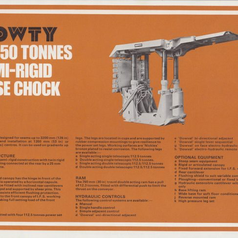 4-Leg 450 Tonnes Semi-Rigid Base Chock | Original photo in the Dowty archive at the Gloucestershire Heritage Hub