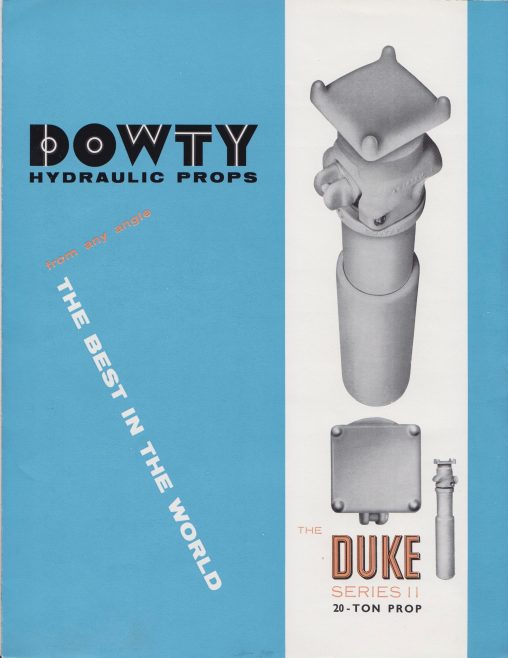 Duke Series 11 20-Ton Hydraulic Prop | Original photo in the Dowty archive at the Gloucestershire Heritage Hub