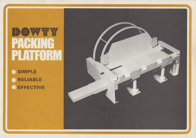 Packing Platform | Original photo in the Dowty archive at the Gloucestershire Heritage Hub
