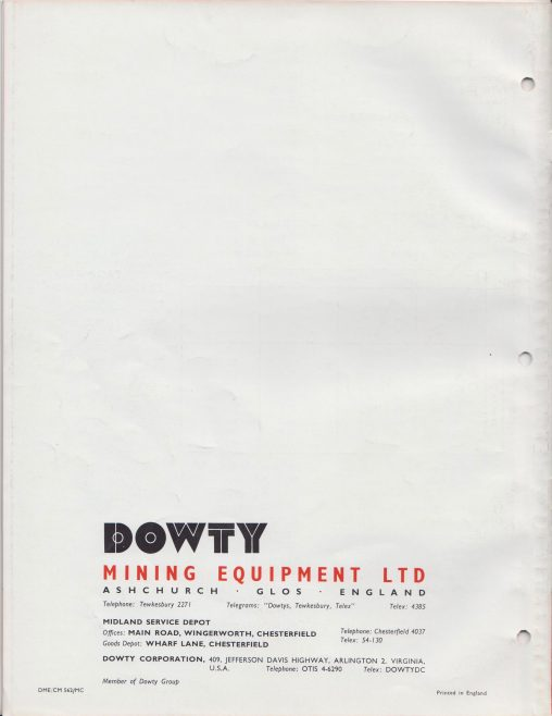 Dowty Mining Equipment - Roofmaster Mark 1B  Self-Advancing Support System | Original photo in the Dowty archive at the Gloucestershire Heritage Hub