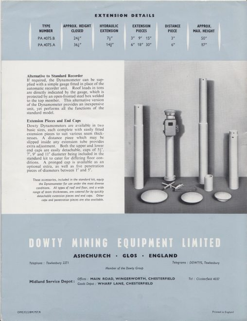 Dowty Mining Equipment - Hydraulic Dynamometer | Original photo in the Dowty archive at the Gloucestershire Heritage Hub
