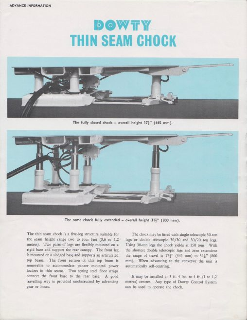 Thin Seam Chock | Original photo in the Dowty archive at the Gloucestershire Heritage Hub