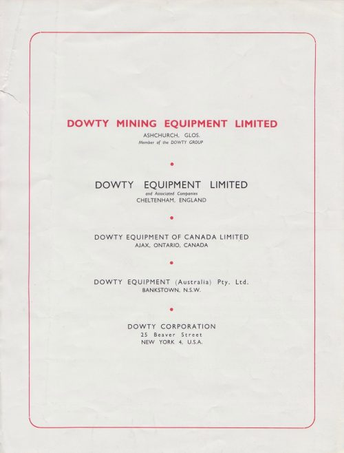 Dowty Mining Equipment - Bar Slide Head | Original photo in the Dowty archive at the Gloucestershire Heritage Hub