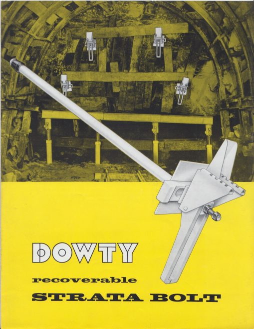 Dowty Mining Equipment - Recoverable Strata Bolt | Original photo in the Dowty archive at the Gloucestershire Heritage Hub