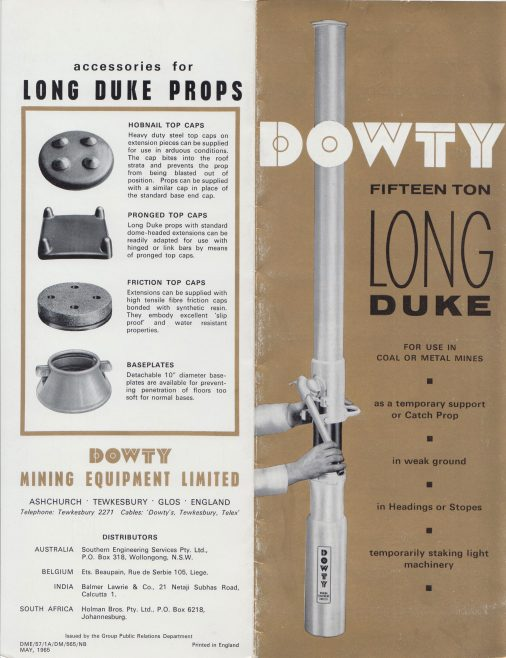 Dowty Mining Equipment - Long Duke 15-Ton Prop | Original photo in the Dowty archive at the Gloucestershire Heritage Hub