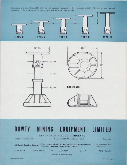 Dowty Mining Equipment - 50-Ton Hydraulic Chock | Original photo in the Dowty archive at the Gloucestershire Heritage Hub