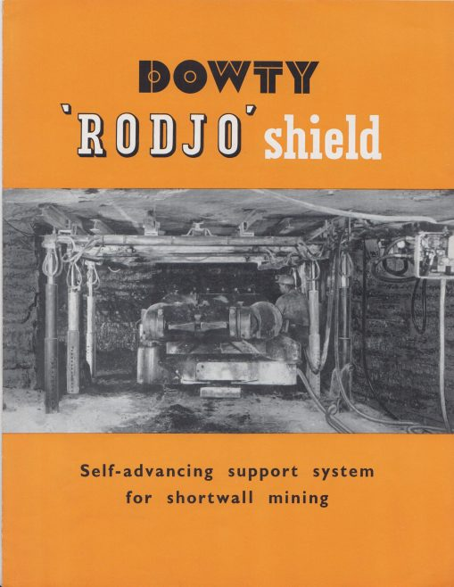 Rodjo Shield - self-advancing support system | Original photo in the Dowty archive at the Gloucestershire Heritage Hub