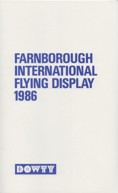 Dowty Group - Farnborough International Flying Display 1986 | Original photo in the Dowty archive at the Gloucestershire Heritage Hub