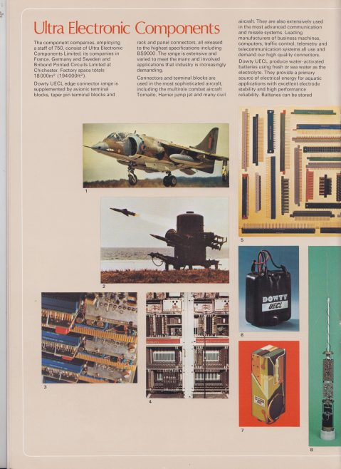 Dowty Electronics - Brochure | Original photo in the Dowty archive at the Gloucestershire Heritage Hub