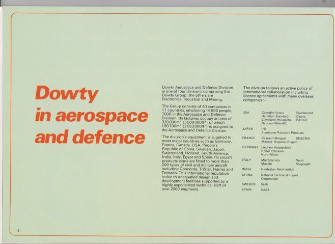 Dowty Aerospace - Dowty in Aerospace & Defence | Original photo in the Dowty archive at the Gloucestershire Heritage Hub