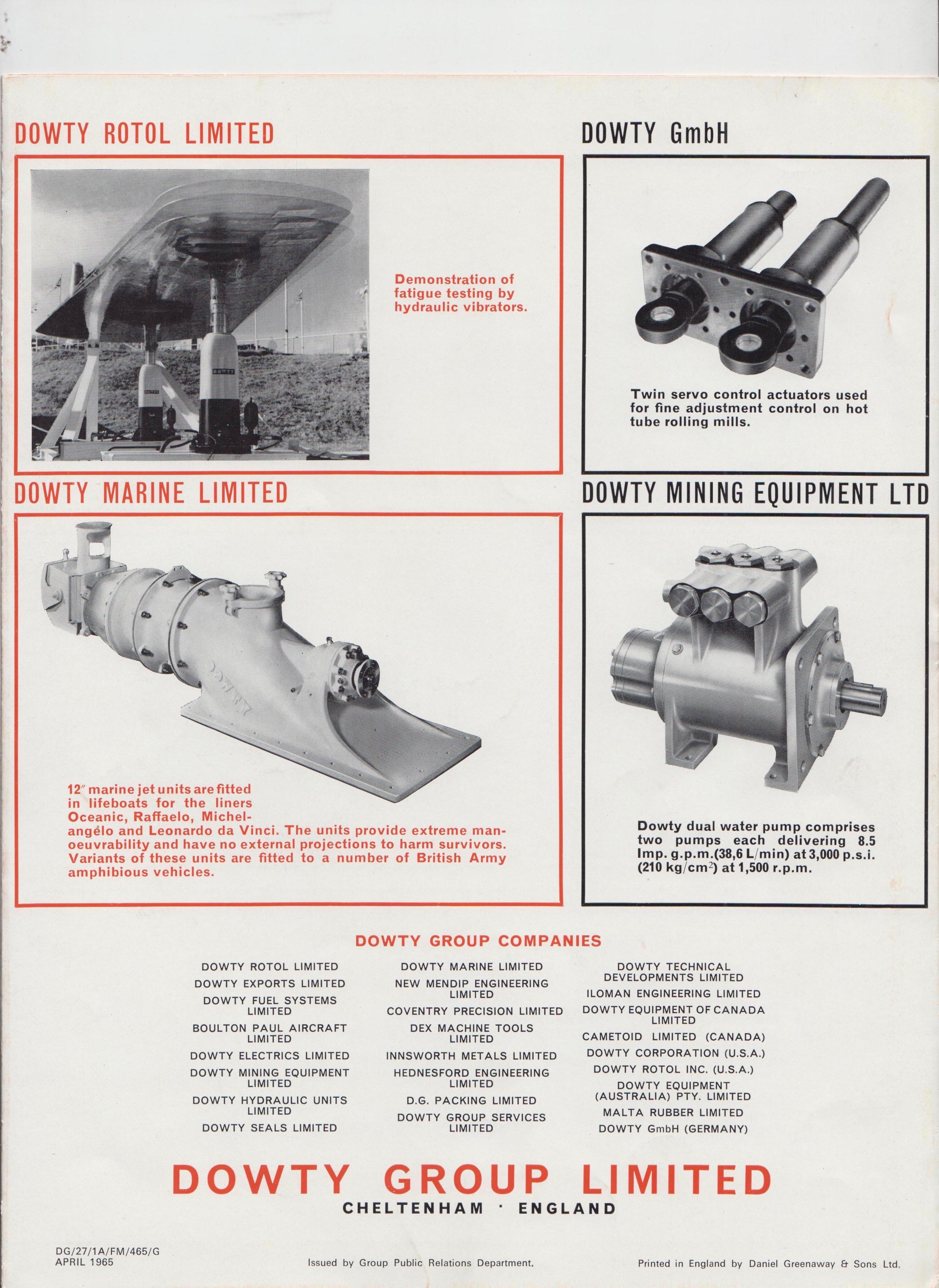 Hanover Exhibition 1965 | Dowty Rotol, Dowty Hydraulic Units