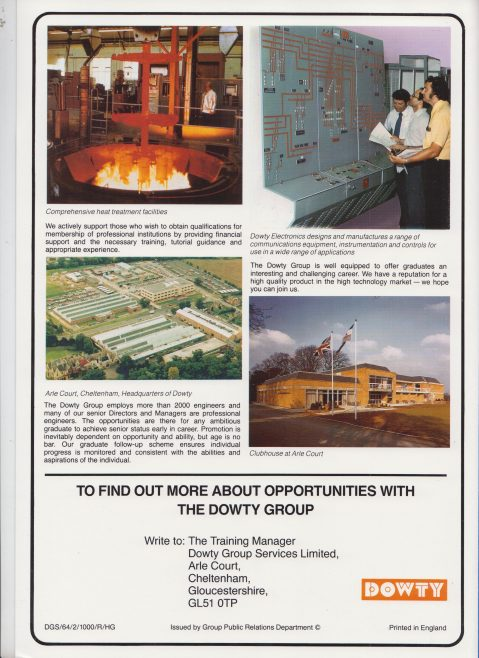 Dowty Group - Graduate Recruitment Brochure | Original photo in the Dowty archive at the Gloucestershire Heritage Hub