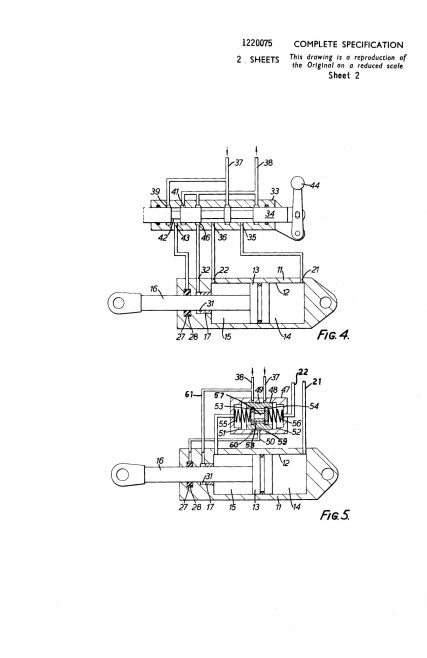 Dowty Technical Developments Patent - Piston & Cylinder Devices | Original photo in the Dowty archive at the Gloucestershire Heritage Hub